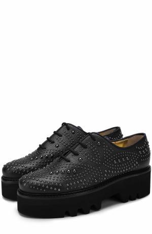Кожаные ботинки Isla с заклепками Walter Steiger. Цвет: черный