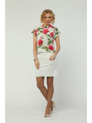 Блузка KATA BINSKA. Цвет: белый, красный