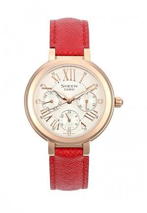 Часы Casio. Цвет: красный