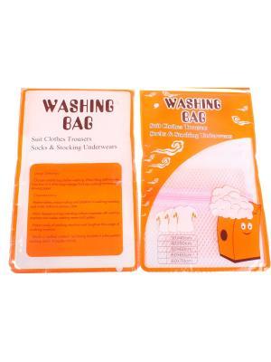 Мешок для стирки белья, набор из 2 шт., размер 40*50 см Радужки. Цвет: белый