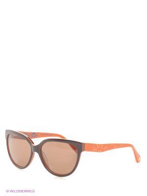 Солнцезащитные очки Enni Marco. Цвет: коричневый, оранжевый