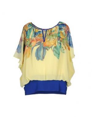 Блузка GAI MATTIOLO. Цвет: желтый