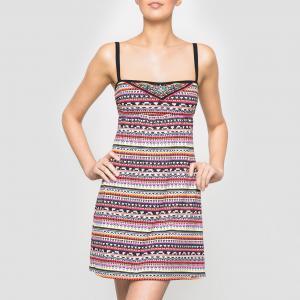 Платье пляжное с принтом BANANA MOON. Цвет: рисунок разноцветный