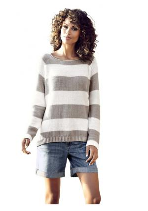 Пуловер B.C. BEST CONNECTIONS. Цвет: красный/белый, серый/белый, черный/белый