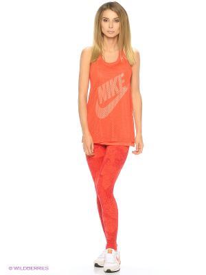 Леггинсы W NSW LGGNG AOP Nike. Цвет: красный