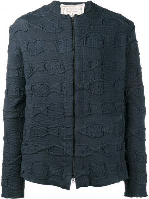 Фактурная куртка на молнии By Walid. Цвет: чёрный