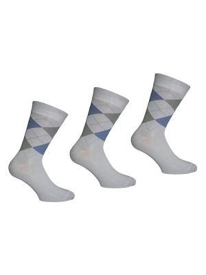 Носки 3 пары Master Socks. Цвет: серый