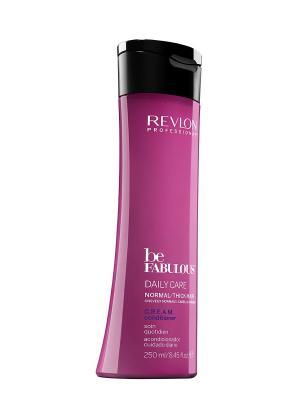 Ежедневный уход для нормальных/густых волос. C.R.E.A.M. кондиционер RP BE FABULOUS 250 мл Revlon Professional. Цвет: фуксия
