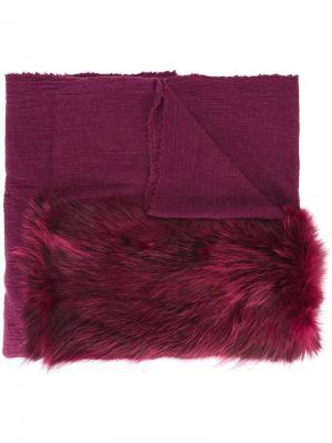 Твидовая шаль Cutuli Cult. Цвет: розовый и фиолетовый