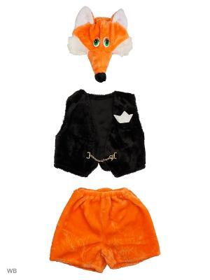 Карнавальный костюм Лисенок Вук Батик. Цвет: черный, оранжевый
