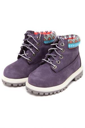 Ботинки Timberland. Цвет: фиолетовый