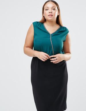 Junarose Платье миди большого размера Lillie. Цвет: зеленый