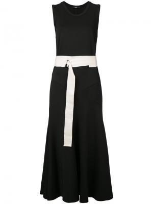 Платье с поясом Bassike. Цвет: чёрный