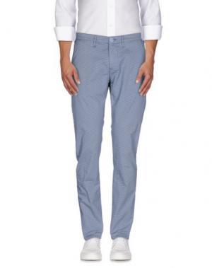 Повседневные брюки 0/ZERO CONSTRUCTION. Цвет: лазурный