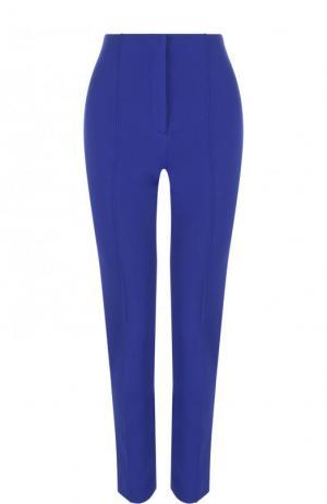 Укороченные однотонные брюки со стрелками Diane Von Furstenberg. Цвет: синий