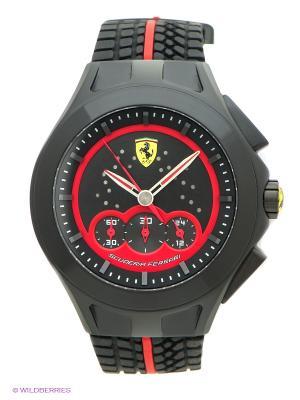 Часы SCUDERIA FERRARI. Цвет: черный, красный