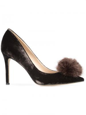 Туфли с помпонами Sam Edelman. Цвет: коричневый