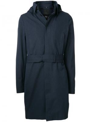 Приталенное классическое пальто Norwegian Rain. Цвет: синий