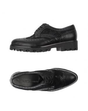 Обувь на шнурках LORETTA PETTINARI. Цвет: черный