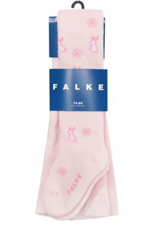 Колготки с принтом Falke. Цвет: розовый