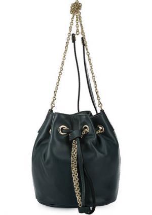 Маленькая кожаная сумка-торба Gianni Chiarini. Цвет: зеленый
