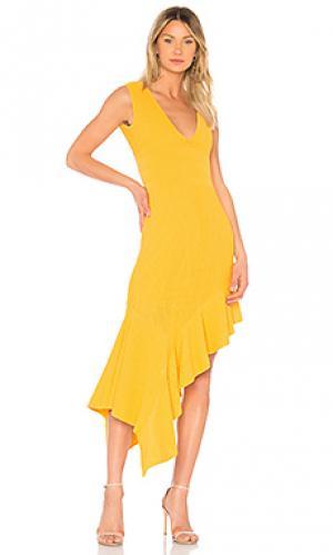 Платье jennifer Ronny Kobo. Цвет: горчичный