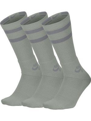 Гольфы SB 3PPK CREW SOCKS Nike. Цвет: темно-серый
