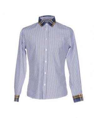 Pубашка DANIELE ALESSANDRINI HOMME. Цвет: темно-синий