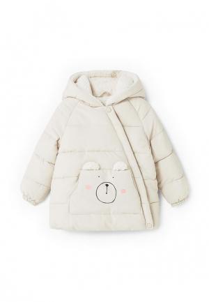 Куртка утепленная Mango Kids. Цвет: белый