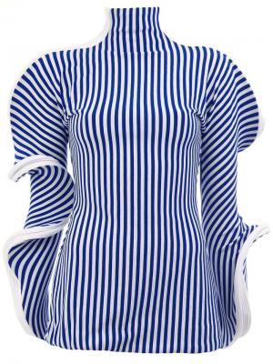 Striped structured blouse Richard Malone. Цвет: синий