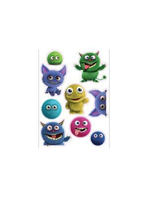 Пушистые чудики DECORETTO. Цвет: зеленый, голубой, сиреневый, фиолетовый, розовый, желтый, синий