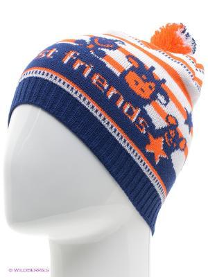 Шапка ELFRIO. Цвет: оранжевый, синий