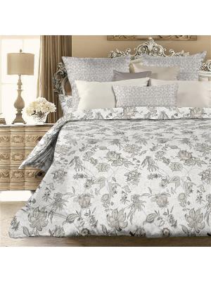 Комплект постельно белья 2,0 биоматин  Valery Унисон. Цвет: серый, белый