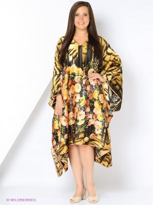 Платье - туника LIZA MACCONY. Цвет: желтый