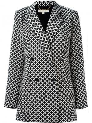 Пиджак в ломаную клетку Michael Kors. Цвет: чёрный