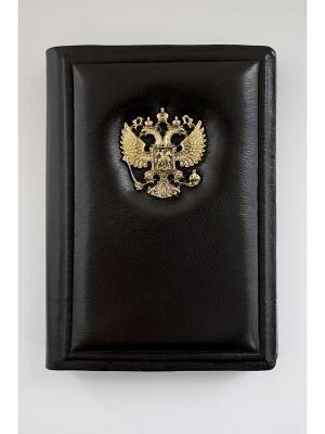 Обложка для паспорта классик Кожевенный дворъ. Цвет: темно-коричневый