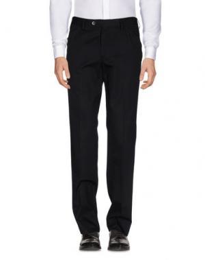 Повседневные брюки LUIGI BIANCHI Mantova. Цвет: черный