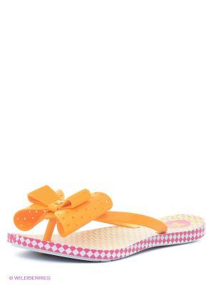Шлепанцы ZAXY. Цвет: оранжевый