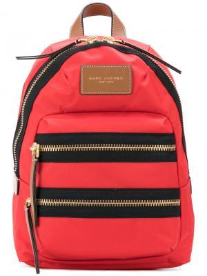 Рюкзак с карманами на молнии Marc Jacobs. Цвет: красный
