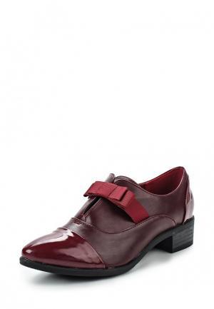 Ботинки Exquily. Цвет: бордовый