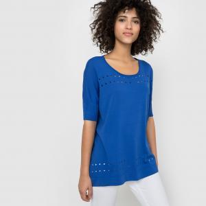 Пуловер ажурный SUNCOO. Цвет: черный