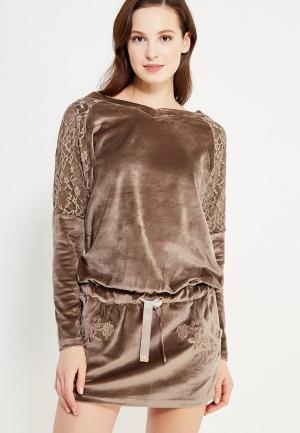 Платье Relax Mode. Цвет: коричневый