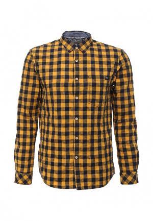 Рубашка Tom Tailor Denim. Цвет: желтый