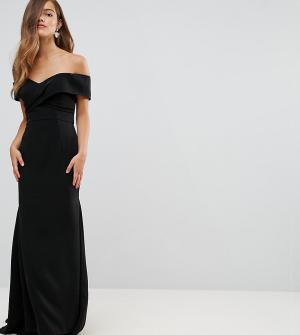 Jarlo Petite Платье макси с открытыми плечами. Цвет: черный