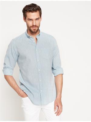 Рубашка KOTON. Цвет: серо-голубой