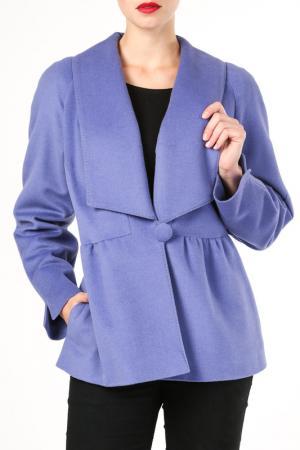 Полупальто M. Collection. Цвет: фиолетовый