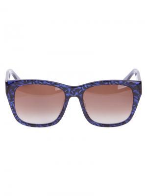 Солнцезащитные очки Blasty Thierry Lasry. Цвет: синий