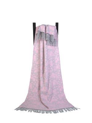 Плед Трентино (140*200 бабочки) Woolhouse. Цвет: розовый, серый