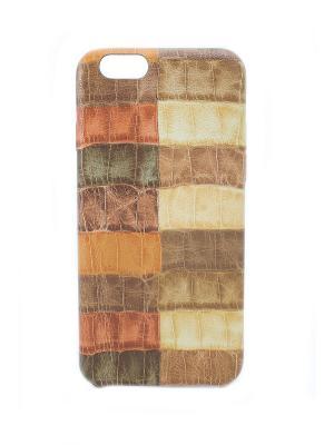Чехол для iphone 6 JD.ZARZIS. Цвет: коричневый, бежевый
