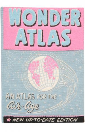 Клатч в виде книги с аппликацией Wonder Atlas Olympia Le-Tan. Цвет: голубой